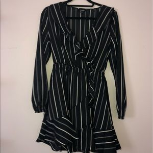 This is an Express black/white striped sundress!